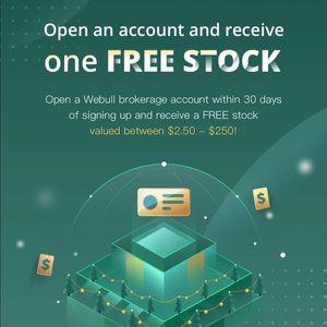 WEBULL OFFERING FREE STOCKS